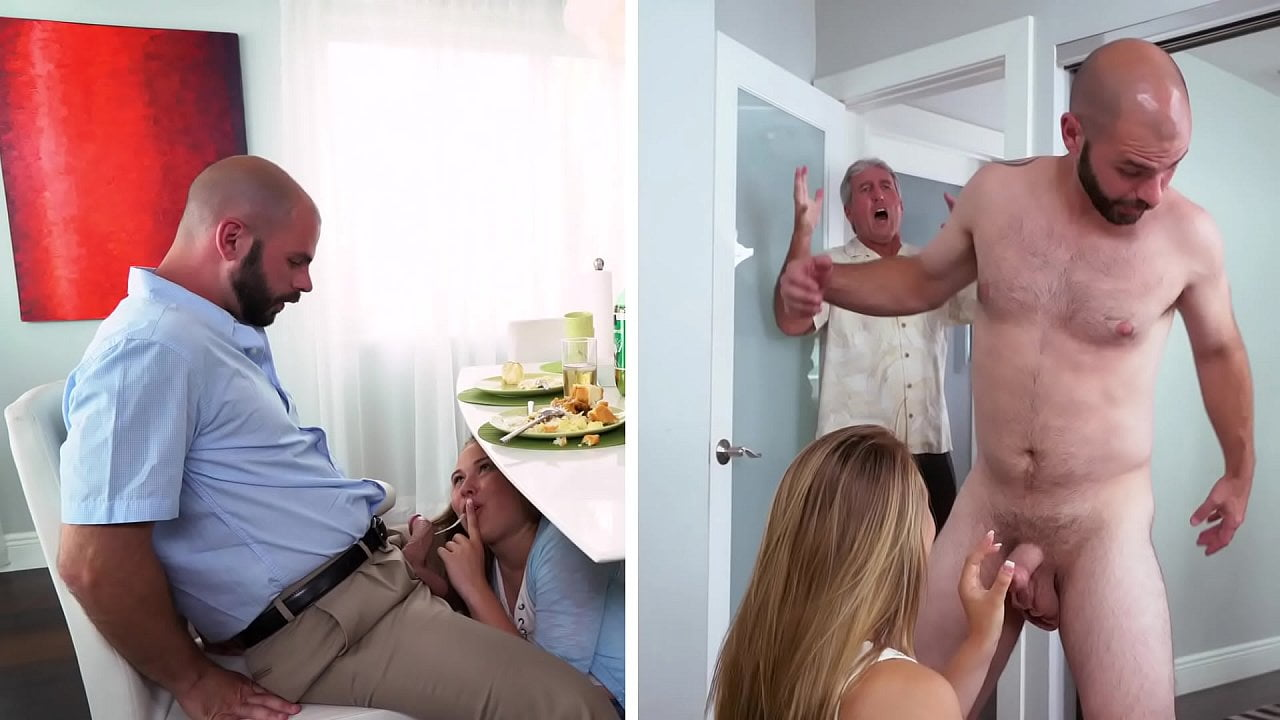 Pai pega filha fodendo com o namorado no quarto